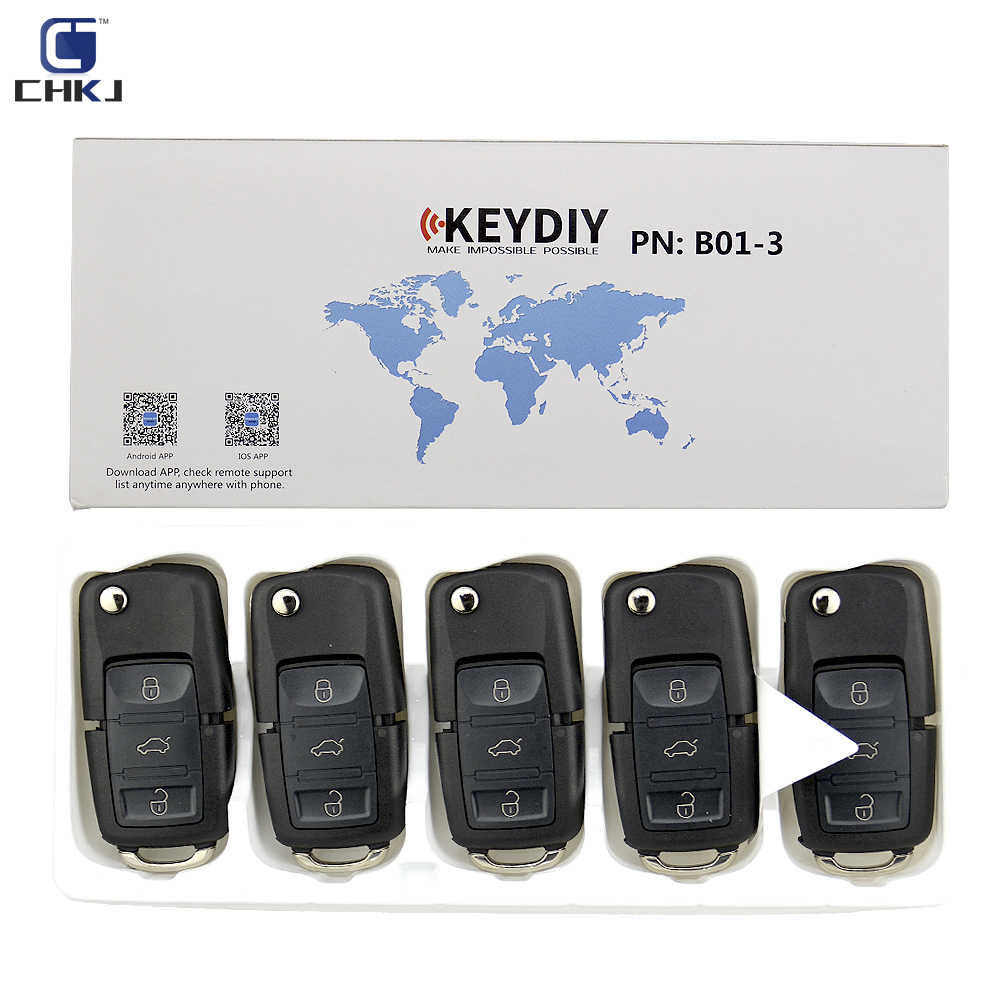 CHKJ 5 ピース/ロット B01 3 ボタン KD900 リモートキー keydiy KD900 KD900 + KD200 URG200 ミニ KD リモコンプログラマ V ワット