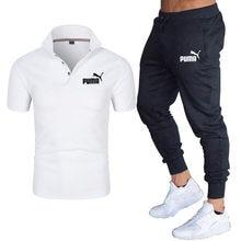 2021 erkek takım elbise rahat nefes Polo GÖMLEK + pantolon iki parçalı gündelik spor giyim erkek ve kadın gündelik giyim baskılı tops