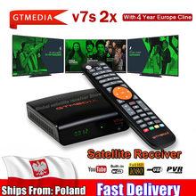 Digital GTmedia V7 S2X HD Receptor apoyo wifi usb DVB-S2 H.265 V7S2X decodificador alimentado por GTmedia V7S HD TV box no app i