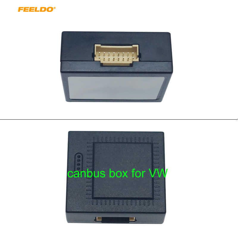 FEELDO 1PC Android Media Player Navi วิทยุ CANBUS กล่องสายไฟสำหรับ Volkswagen Golf 5/6/POLO/Passat/Tiguan/Touran