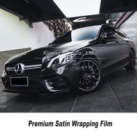 Highest quality Satin Black Vinyl wrapping satin black wrap Car Wrap Car Wrapping Foil quality Warranty Bubble Free 5m/10m/18m