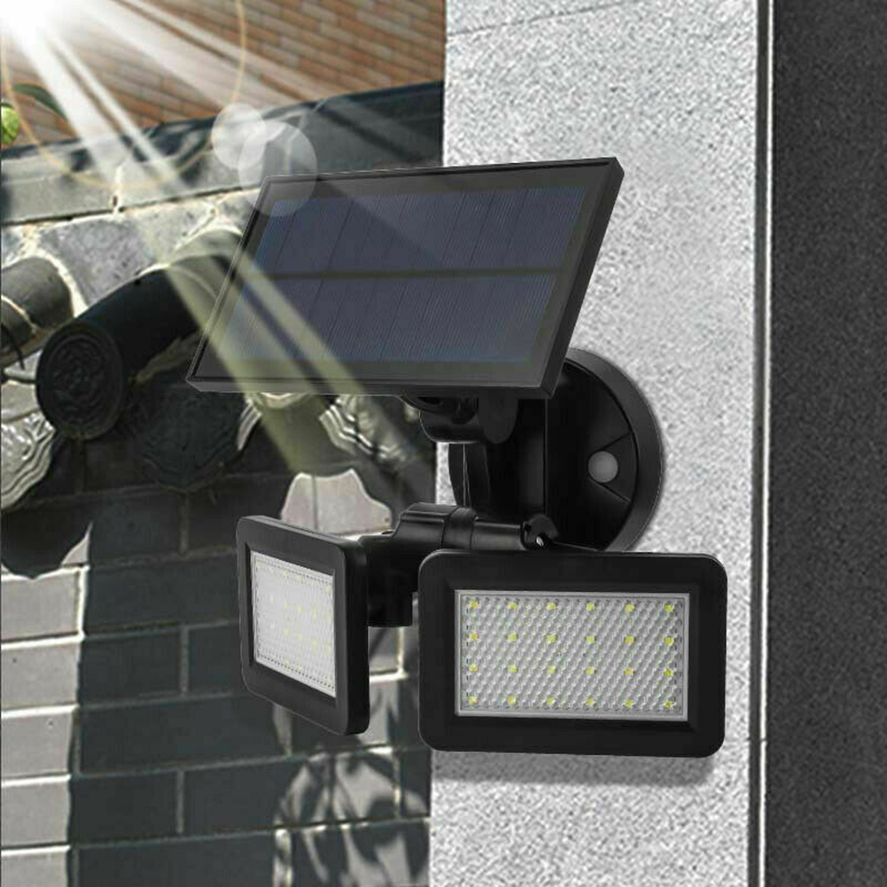 48led Dual Head Rotating Solar Light
