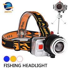 Zhiyu 3 цвета фары для рыбалки вращающийся фонарик с масштабируемой