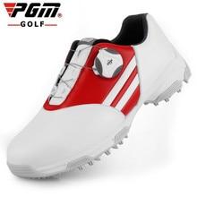 СЕЗОН! PGM Дети гольф кроссовки осень зима водонепроницаемый досуг спортивная обувь ручка пряжки шнурки дышащие Нескользящие высокого класса