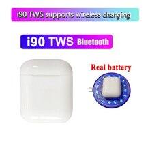 Последние i90 TWS Bluetooth 5,0 сенсорные наушники 6D стерео звук беспроводной зарядки pk i10 i15 i20 i30 i60 i80 i100 tws