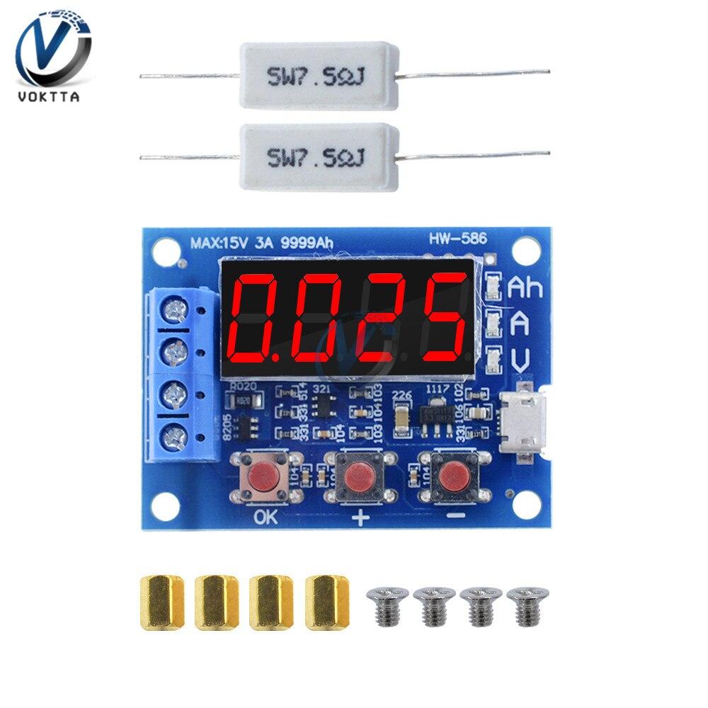 18650 литиевая батарея питание тест ZB2L3 батарея тестер светодиодный цифровой дисплей сопротивление свинцово-кислотный измеритель расхода ем...
