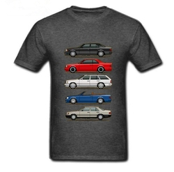 New 2020 Stack of  W124 E Class Men T Shirts Round Collar Tops Short Sleeve O-neck tshirt men Youth Car styling T-shirt