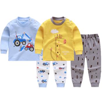 0-6Y dziewczęce zestawy ubrań dla chłopców wiosna jesień Cartoon bawełniana kurtka dla chłopca koszula + spodnie 2 szt Zestaw ubrań dla dzieci prezent urodzinowy tanie i dobre opinie Na co dzień CN (pochodzenie) O-neck Brak S001 COTTON Chłopcy Pełna REGULAR Pasuje prawda na wymiar weź swój normalny rozmiar