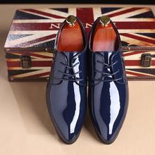 New business dress shoes men's British large size men's leather