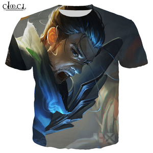 Image 4 - CLOOCL Popular Game T Shirt Men/Women 3D Print T Shirts Casual Style Hero Skin T shirt Sweatshirt Tops T323