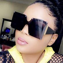 Женские солнцезащитные очки без оправы gifansee большие квадратные