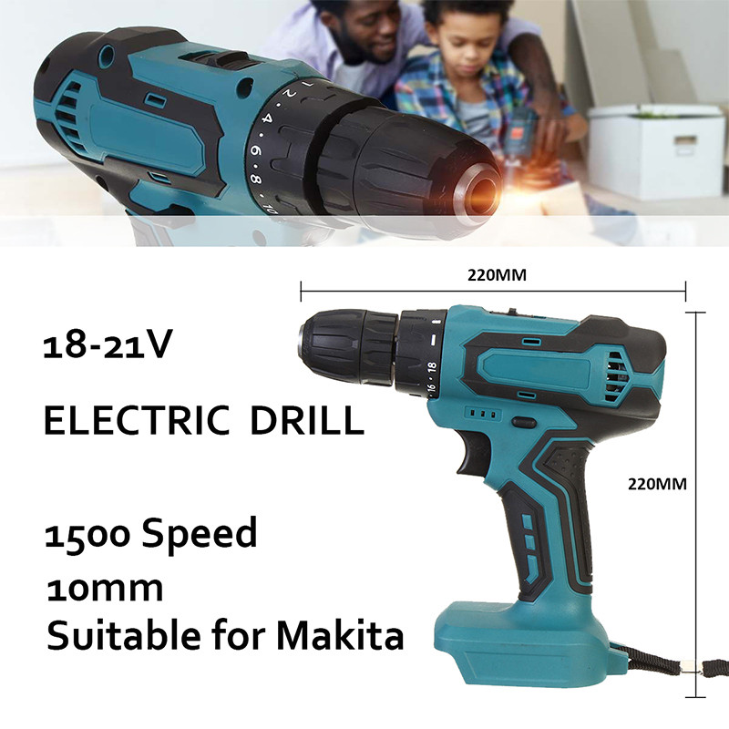 18V 90Nm Electric Cordless Brushless Impact Drill Hammer Drill Screwdriver 10mm DIY Power Tool Rechargable For Makita Battery