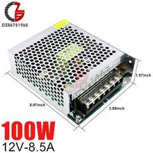 12 В импульсный источник питания 8.5A 100 Вт AC в DC светодиодный адаптер источника питания трансформатор светодиодный регулятор напряжения
