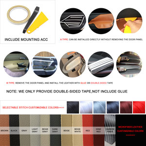 Image 5 - For Honda Fit / Jazz 2004 2005 2006 2007 Car Door Handle Armrest Panel Microfiber Leather Cover