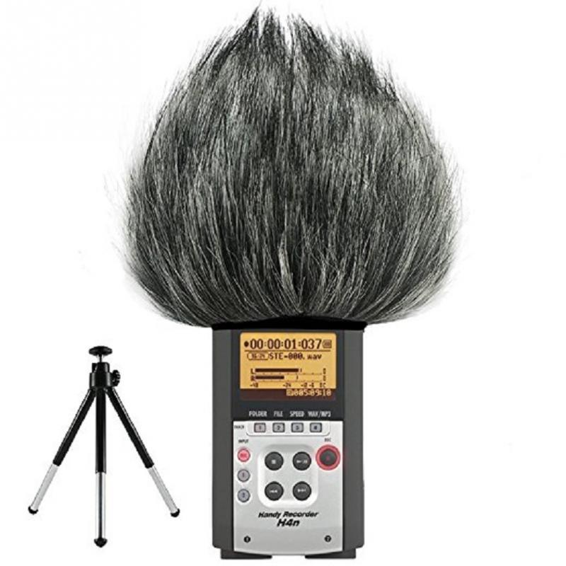 Outdoor Microphone Windshield Recording Pen Easy Install Noise Cancellation Dustproof Artificial Fur For ZOOM H4N H2N Microphone