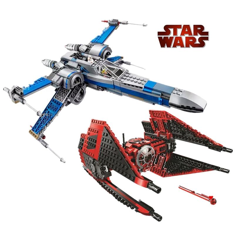 NEW Compatible With Lepining Star Wars Major Vonreg's TIE Fighter 75240 75242 Black Ace TIE Interceptor Block Bricks Toys