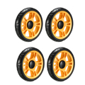 Uxcell Kunststoff Swivel Pulley Rad 120mm/4 72 zoll Dia Rad 6mm Montage Loch Dia Orange   4 stücke-in Rollen aus Heimwerkerbedarf bei