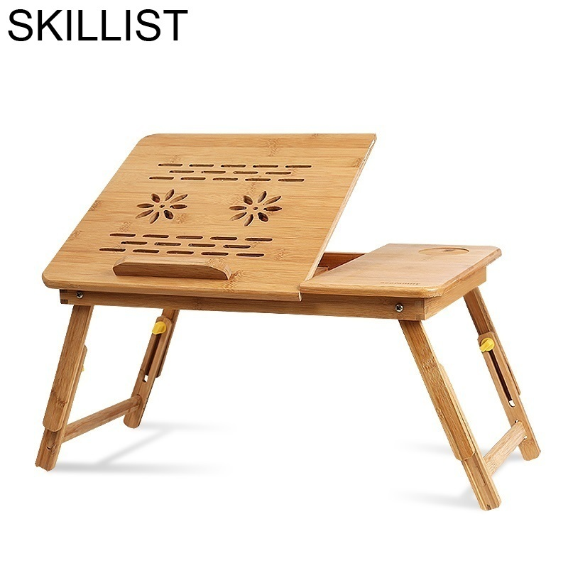 Tisch Notebook Office Escritorio Mueble Support Ordinateur Portable Bamboo Bedside Mesa Laptop Stand Desk Computer Study Table