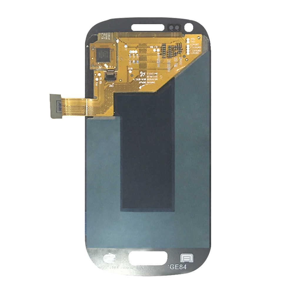 100% اختبار شاشة الكريستال السائل محول الأرقام بشاشة تعمل بلمس إصلاح لسامسونج غالاكسي S III S3 Mini I8190 I8190N I8195 سوبر Amoled