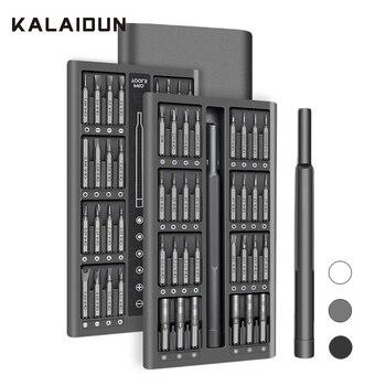 KALAIDUN Screwdriver Set 63 In 1 Precision Screw Driver Torx Bit Magnetic Hex Phillips Bits Mobile Phone Laptop Repair Tools Kit