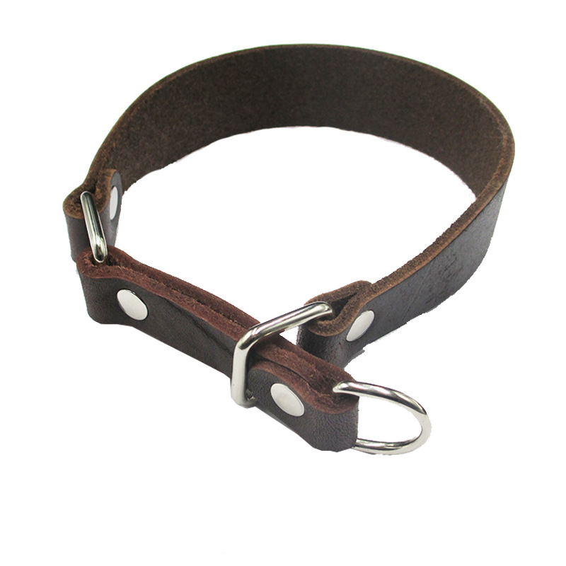 Genuine Leather Slip-Taut Greyhound Neck Ring Widened Nappa Leather Widened Dog Gree Dogs Whippets Bandana