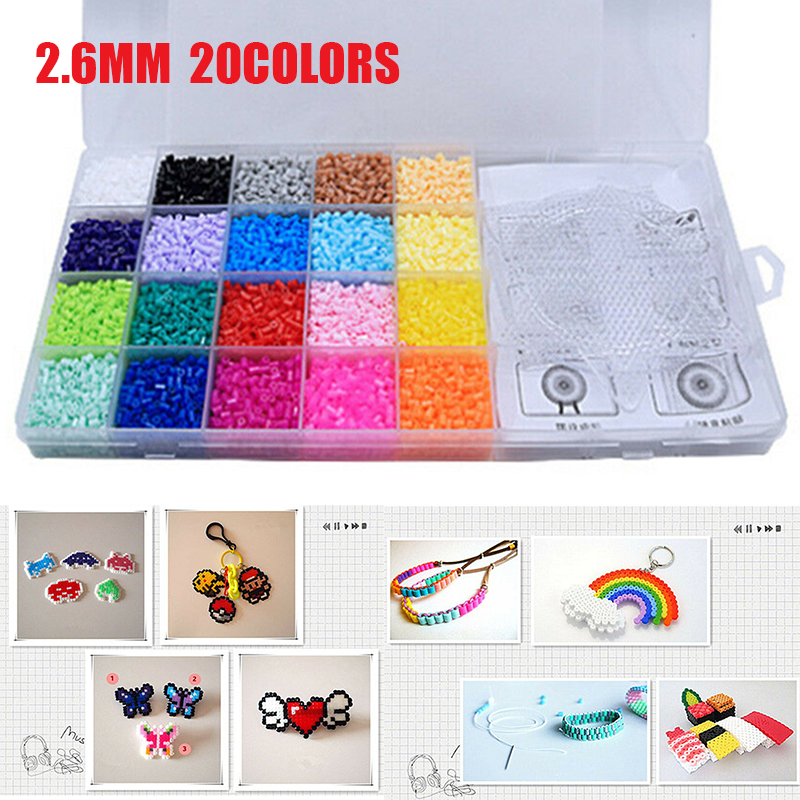 11000pcs Fuse Perler Hama Beads Mini Ironing Set Refill Pack Pegboard Stater DIY Toy Kids Creative Handmade Craft Toy Gift