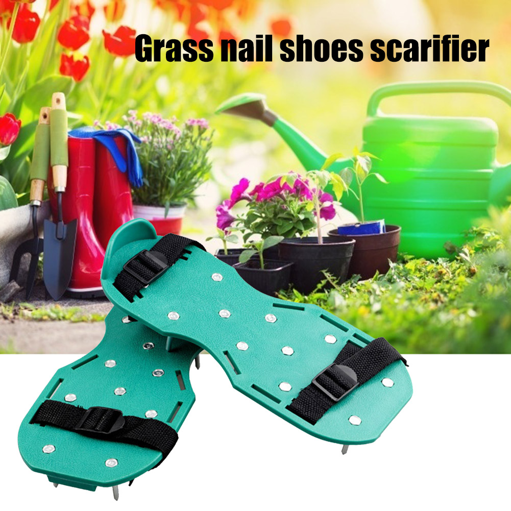 Grass Spiked Gardening Walking Revitalizing Lawn Aerator Sandals Nail Shoes Cultivator Yard Garden Loose Soil Tools