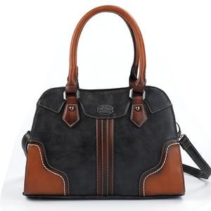 Image 1 - 2019 bayan çanta Kadın Hakiki Deri Çanta Yeni Lüks Vintage Kadın Çanta Büyük Kapasiteli omuzdan askili çanta Ana Kesesi Femme
