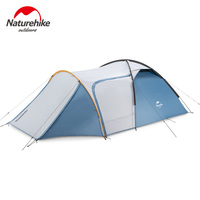 Naturehike 2020 Outdoor Camping Tent 3 Person One Room One Hall Large Space Tourist Tent Hiking Camping Travel Windproof UPF50+