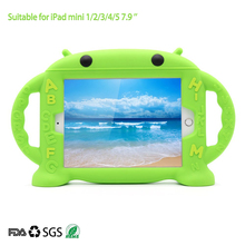 Ipad 2 3 4 Silicone Case iPad Mini 1 2 3 4 Kid Soft Handles Stand with Shockproof Case Stand for ipad 7.9'' /9.7