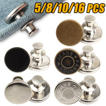 Detachable Retro Metal Buttons Snap Fastener Pants Pin for Jeans Retractable Button Sewing-Free Buckles Perfect Fit Reduce Waist