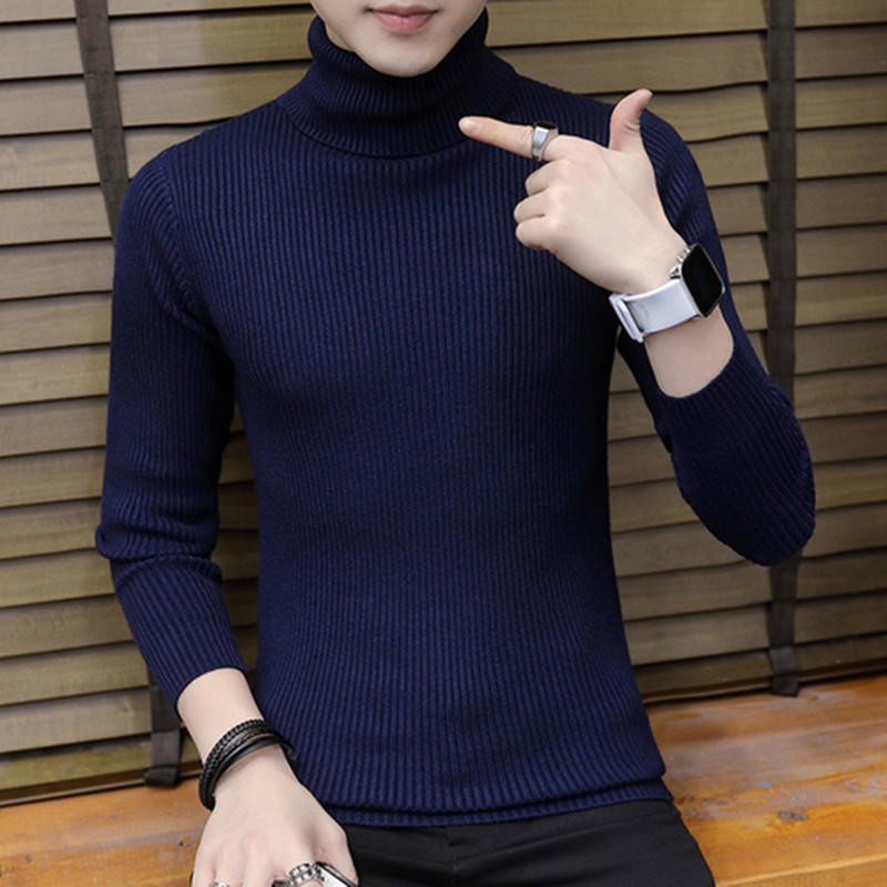 2019 Cashmere Pullover Men 2018 New Fashion Turtleneck Thin Sweater Autumn Mens Sweaters Casual Men's Knitted Sweaters Tops 3XL