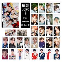 KPOP Bangtan Boys Bulletproof youth regiment group 16 LOMO box smallcard setofficial calendar same picture room decor stickers(China)