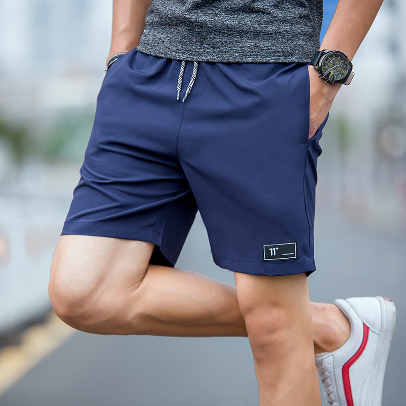 Mens Compression Shorts 4XL Mens Shorts Summer Shorts Homme Polyester Patchwork Short Pants High Waist Shorts Elastic Waist New