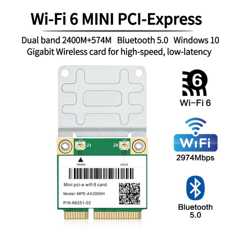 2974mbps wifi 6 sem fio metade mini