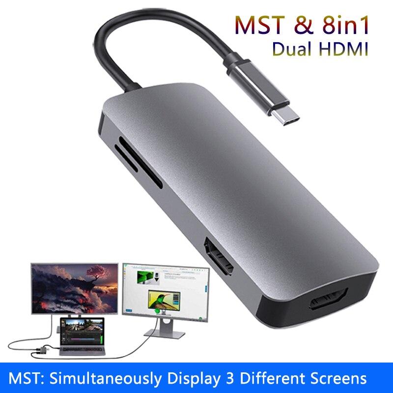 Station d'accueil pour ordinateur portable MST, USB 3.0, PD, SD, TF, Hub compatible HDMI, pour Macbook Pro, HP, DELL, Surface, Lenovo