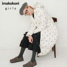 Белый пуховик imakokoni с вышивкой оригинальный женский дизайн