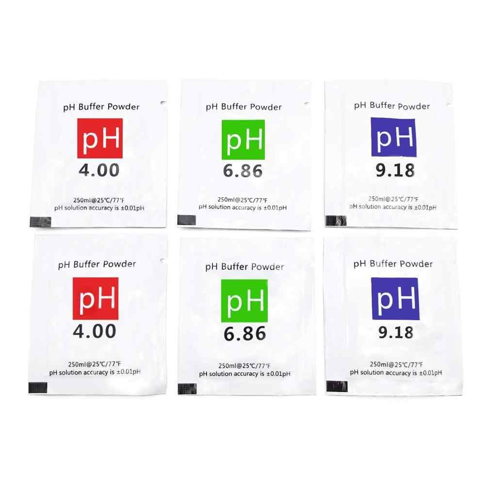 6 шт., калибровочный раствор PH, порошковый точный и простой калибровочный раствор PH порошок для калибровки Solution 6,86, 4,00, 9,18