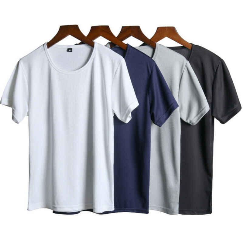 Anti Sujo T-Shirt Atlético dos homens À Prova D' Água Umidade-Wicking Fit Quick Dry Esportes T-Shirt Dos Homens de Manga Curta- secagem rápida Tee Homens