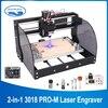 CNC 3018 Pro Max máquina de grabado láser de 3 ejes fresadora PCB láser 15w Router de madera controlador GRBL máquina del CNC para la máquina de Metal