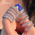 Обручальное кольцо RAKOL с кубическим цирконием ААА +, свадебное кольцо вечности для женщин, лучший подарок для женщин, оптовая продажа, модные...