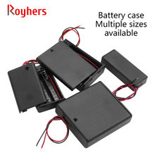 18650 Battery Box With Switch And Cover No. 5, No. 7 And No. 7 Battery Holder 1 Section 2 Section 3/4/5/6/8 Section 9V 1Pcs