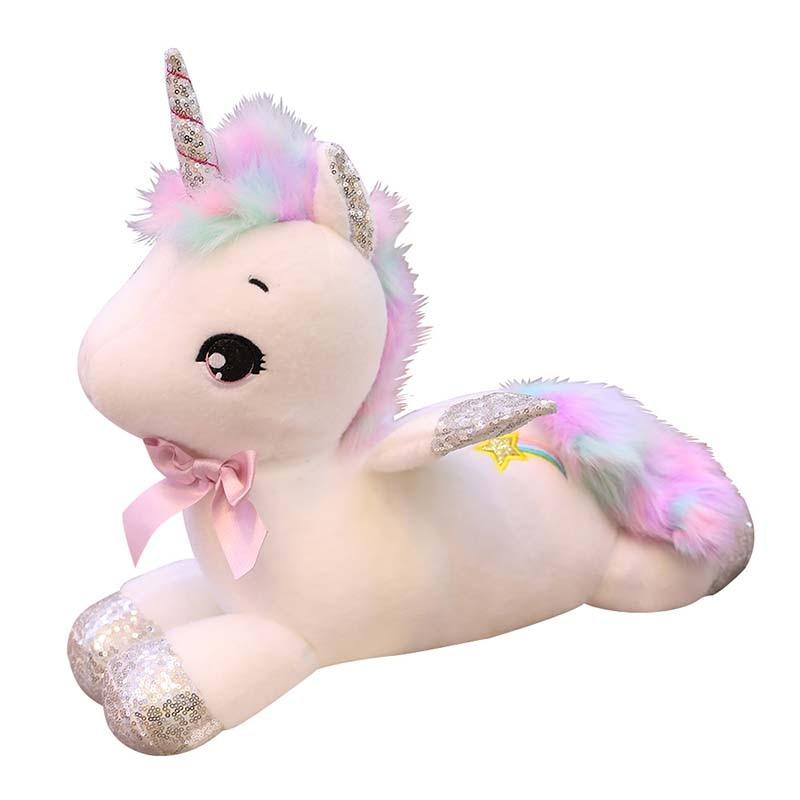 Epacket Soft Unicorn Plush Toy Baby Kids Appease Sleeping Pillow Doll Animal Stuffed Plush Toy Birthday Gifts For Girls Children