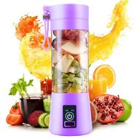 Portable Electric Juicer Blende r Usb Mini Fruit Mixers Juicers Fruit Extractors Food Milkshake Multi function Juice Maker 380ml|Squeeze Bottles| |  -