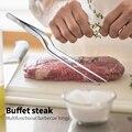 Küche zangen küche utensilien BBQ Pinzette Lebensmittel Clip küche Chef Zange Edelstahl Tragbare für Picknick Grill Kochen