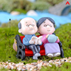1/2Pieces Sweety Lovers Couple Chair Figurines Miniatures Fairy Garden Gnome Moss Terrariums Resin Crafts Home Decoration 3