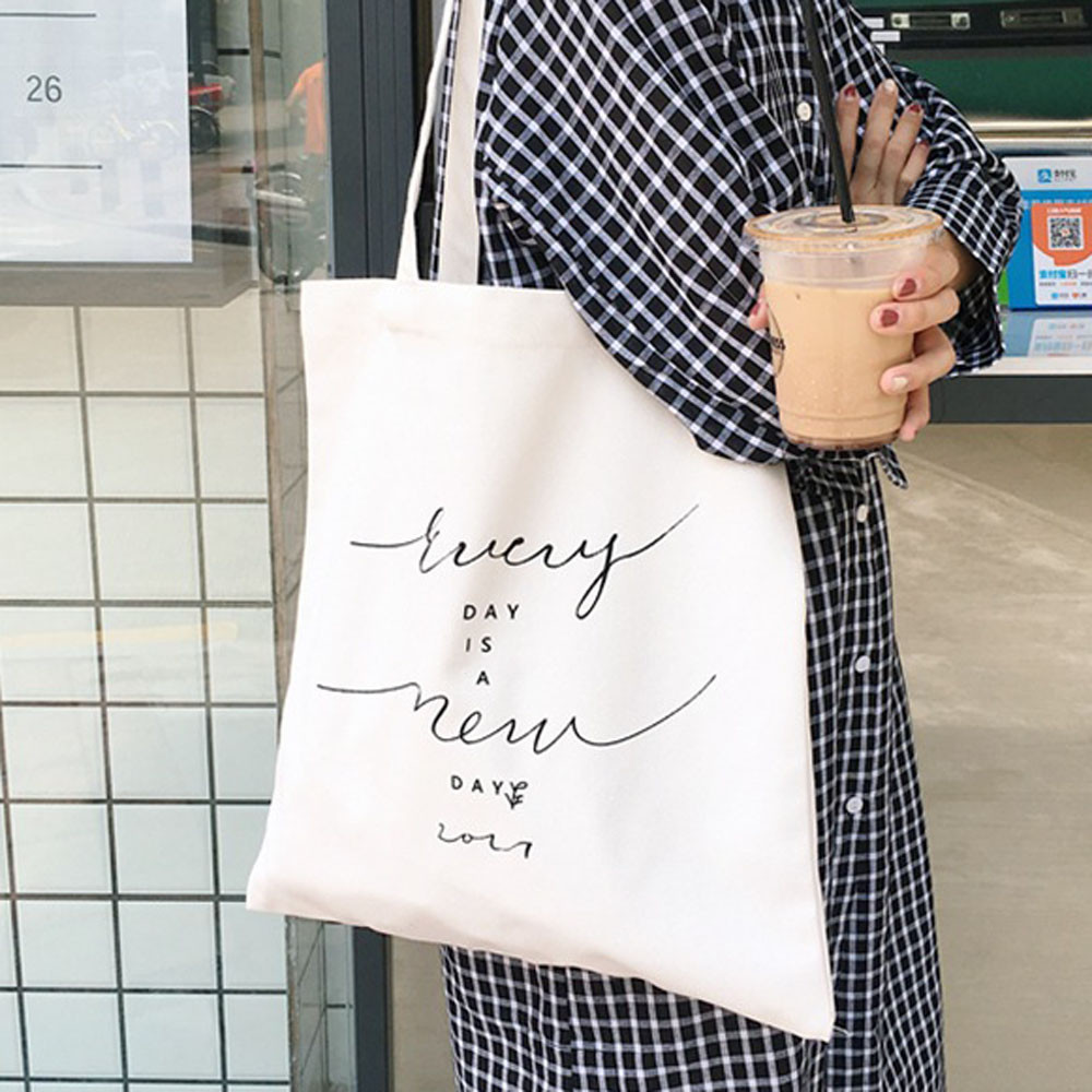 2019 Canvas Tote Bag Women Fahion Reusable Shopping Handle Bags Fashion Folding Shopping Bag Eco Grocery Shoulder Bags #57