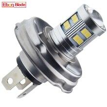 1Pcs P45t R2/2428 Motorbike Car LED 24SMD Headlight Light Bulb 6V 12V 10 30V Hi/Lo Motorcycle Scooter ATV White Front Head Lamps