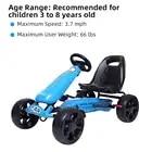 LEADZM LZ 03 Kart Ruota EVA Giocattolo Mini Auto In Lega di Ingegneria Ca Dimensione 103*59*58 Blu