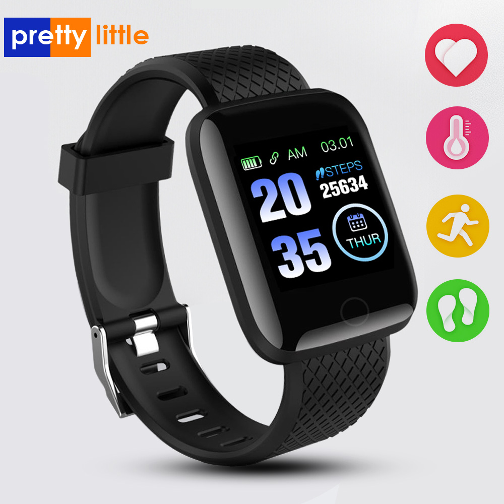 Smart Watch Wristband Sports Fitness Blood Pressure Heart Rate Call Message Reminder Android Pedometer 116Plus SmartWatch